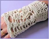 Skluv Gloves - Fingerless Lace Gloves - Crochet Pattern