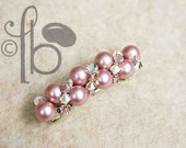 Pink Pearls Jeweled Barrette