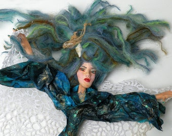 SEA WITCH one of a kind Elemental Art Doll