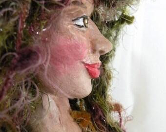 MAID OF SEAWEED elemental spirit art doll Siren