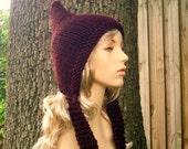 Knit Hat Red Womens Hat - Burgundy Pixie Hat - Oxblood Wine Red Knit Hat - Red Hat Red Pixie Hat Burgundy Hat Womens Accessories Winter Hat