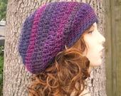 Crochet Hat Womens Hat Slouchy Beanie - Weekender Slouchy Hat in Concord Grape Jelly Crochet Hat - Purple Hat Womens Accessories Winter Hat