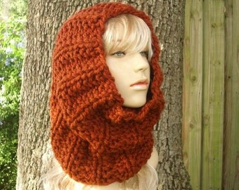 Burnt Orange Cowl Scarf - Twilight Cowl Chunky Thick Knit Cowl - Burnt Orange Scarf Womens Accessories Winter Cowl Fall Fashion