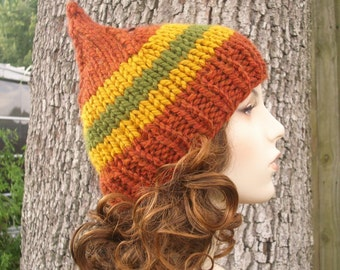 Knit Hat Womens Hat - Gnome Hat in Smugglers Notch Knit Hat - Womens Accessories Winter Hat