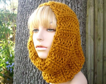 Mustard Chunky Scarf - Twilight Cowl Scarf Mustard Yellow Knit Cowl - Yellow Scarf Yellow Cowl Mustard Scarf Mustard Cowl Womens Accessories