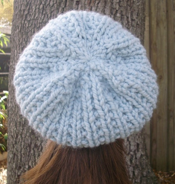 Knitting Pattern For Womens Beret : Instant Download Knitting Pattern - Womens Hat Pattern - Knit Hat Pattern for...
