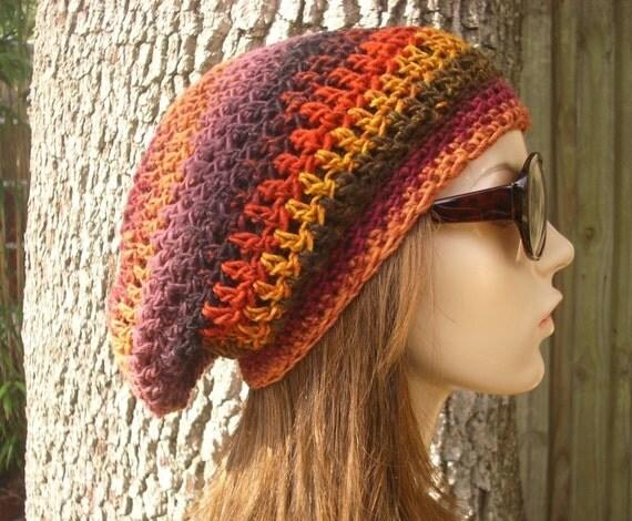 Multicolor Beanie Womens Hat Slouchy Beanie - Weekender Slouchy Hat Medusa Crochet Hat - Yellow Beanie Purple Beanie Womens Accessories