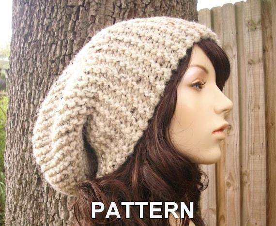 Women s Beanie Knitting Pattern : Instant Download Knitting Pattern - Knit Hat Knitting ...