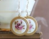 Framed Floral Earrings