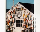 Lobster Buoys, Noank, CT, Fords Lobsters, Refrigerator Magnet