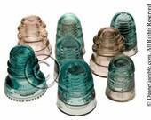 Antique Glass Insulator, Refigerator Magnet