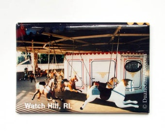 Watch Hill Flying Carousel Horses Refrigerator, New England Gift