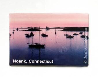 Ram Island At Sunset, Noank, CT. Refrigerator Magnet, New England Gift