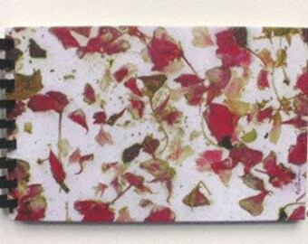 Red and Pink Geranium Flower Petals, Fine Art Journal by CreativePhotoProducts