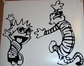 Calvin and Hobbes Happy Dance 6x7