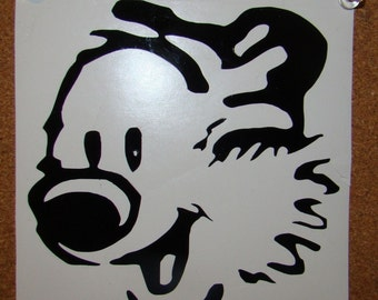 Hobbes Head -  Calvin and Hobbes Vinyl Decal 5x5