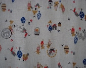 Japanease Retro 3 Pig Brothers Fabric FQ