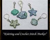 Sea Stitch Markers Crochet Knitting BHV OGLD MHA Stitchmarkers Polymer Clay