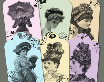 Victorian Lady Hang Tags