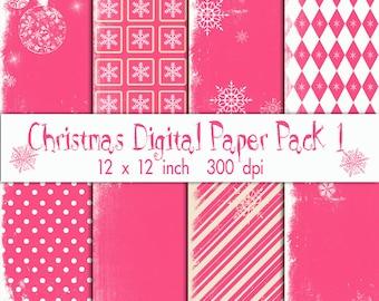 Christmas Digitl Paper Pack 1
