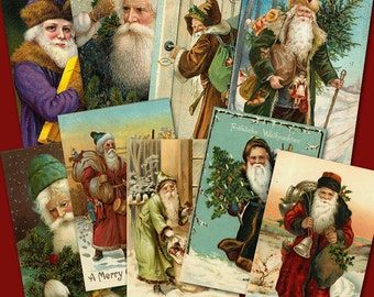 Old World Santas Collage Sheet 1