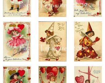 Vintage Valentine Downloadable Collage Sheet 3