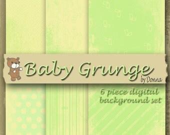 Baby Grunge Digital Background Set