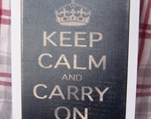 Keep Calm and Carry On Note Card - printed on Linen card stock