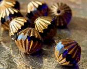 Renaissance (12) -Czech Glass Fluted Bicones