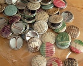 Vintage Postmark and Postage Stamp Buttons