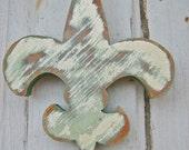 Recycled Wood Fleur de Lis
