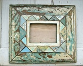 Mosaic Picture Frame Made With Reclaimed Wood