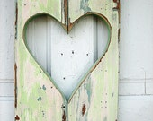 Mint Green Heart Shutter