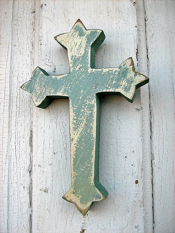 Recycled Wood Green Cross