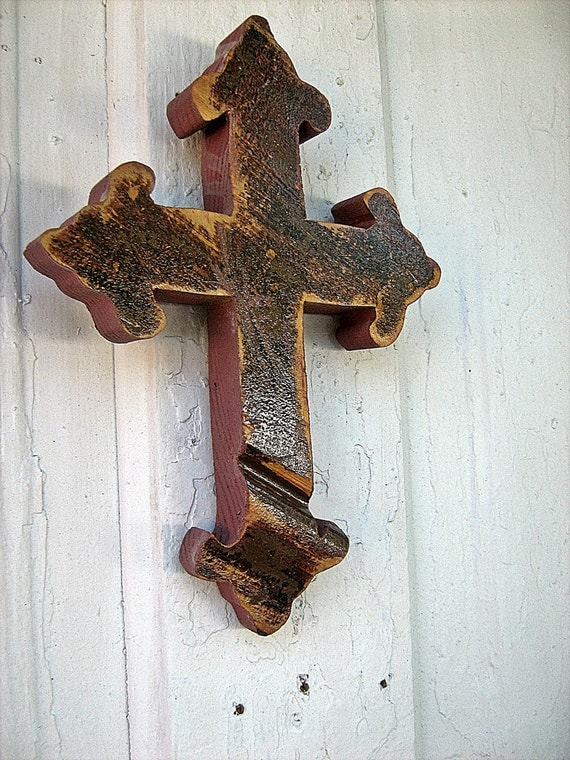 Antique Wood Wall Cross