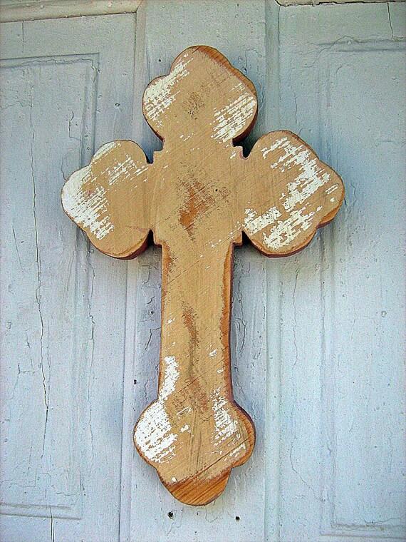 Large Wooden Serbian Wall Cross