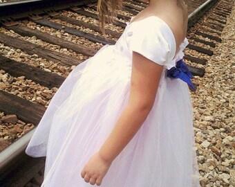 One Shoulder Flowergirl Dress