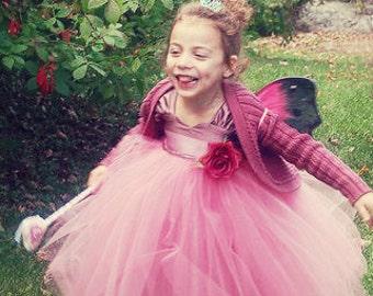 Princess Birthday Tulle Dress . Flower Girl Tutu