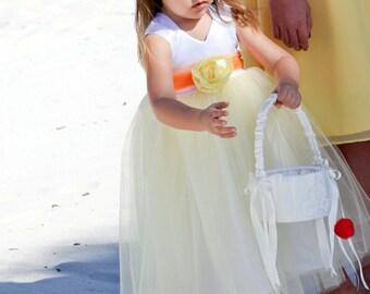 Cotton Tutu Flower Girl Dress