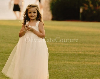 Flower Girl Dress Cotton Floor Length