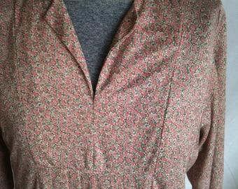 vintage floral hippie maxi dress