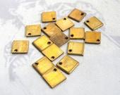 LAST Set - Brass Diamond / Square Engravable Pad Charms (16X) (M764)