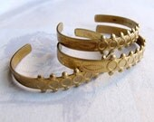 Vintage Brass Children's Cuff Bracelets (3X) (J503)