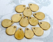 Small Brass Engravable Teardrop Charms (M775)