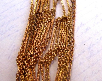 Vintage Raw Brass Cable Chain With A Pressed Pattern (12 feet) (C628-A)