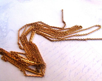 Vintage Red Brass Cable Chain With A Pressed Pattern (6 feet) (CP224-A)
