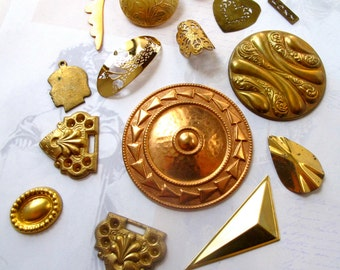 Brass Charm And Pendant Collection (15X) (V274)