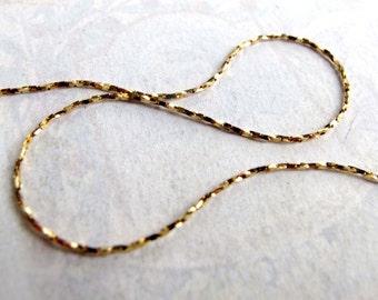 Vintage Brass Sparkly Snake Chain (6 feet) (C556)