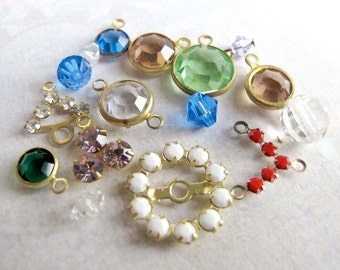 Random Assortment Of Swarovski Crystal Charms (10 Plus) (S505)