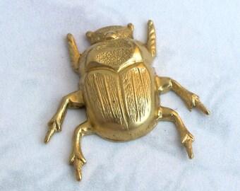 Brass Beetle Charms (4X) (M525)